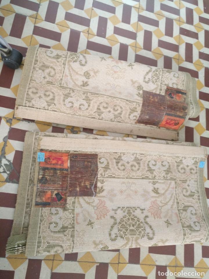 Antigüedades: 2 ALFOMBRAS - ANTIGUA PAREJA DE ALFOMBRAS IMPERIALES DE LANA 117 X 60 CM - Foto 6 - 162447990