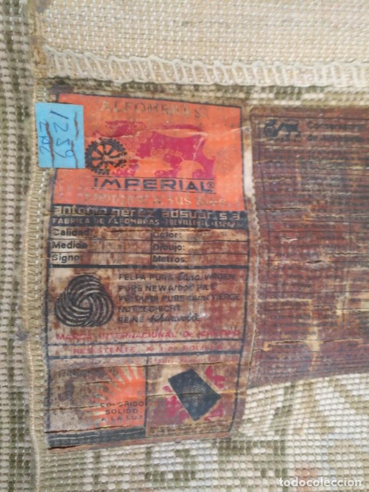 Antigüedades: 2 ALFOMBRAS - ANTIGUA PAREJA DE ALFOMBRAS IMPERIALES DE LANA 117 X 60 CM - Foto 8 - 162447990
