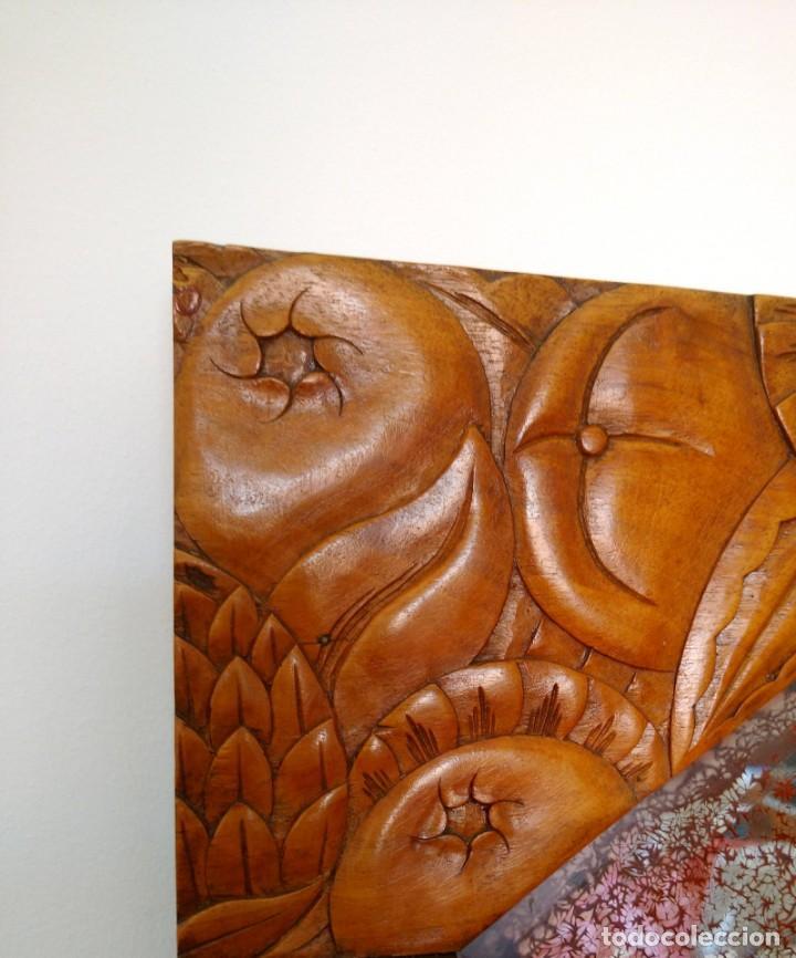 Antigüedades: ANTIGUO TOCADOR ART DECO EN MADERA DE NOGAL. MADERA MACIZA - Foto 2 - 162457166