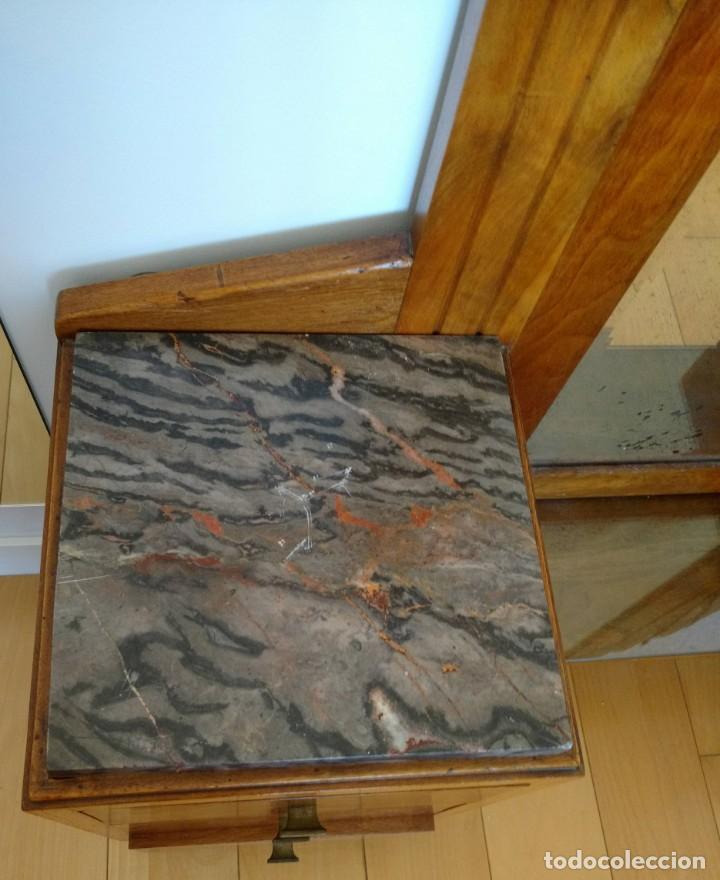 Antigüedades: ANTIGUO TOCADOR ART DECO EN MADERA DE NOGAL. MADERA MACIZA - Foto 3 - 162457166