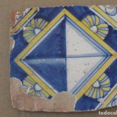 Antigüedades: AZULEJO ANTIGUO DE TALAVERA / TOLEDO. TECNICA PINTADA,LISA O PLANA - SIGLO XVI.. Lote 162464878