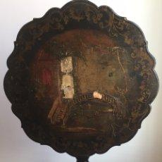 Antigüedades: ANTIGUA MESA VELADOR ESTILO ISABELINO FINALES DEL SIGLO XVIII. Lote 162466446