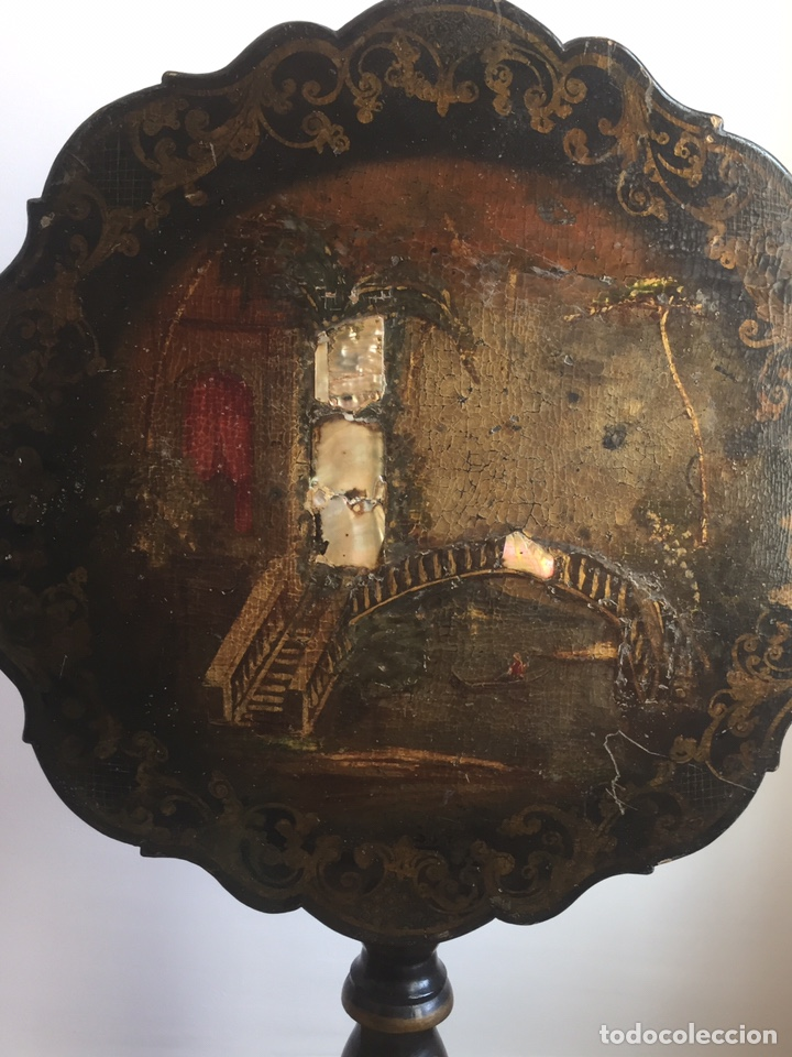 Antigüedades: ANTIGUA MESA VELADOR ESTILO ISABELINO FINALES DEL SIGLO XVIII - Foto 2 - 162466446
