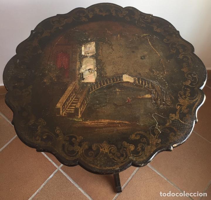 Antigüedades: ANTIGUA MESA VELADOR ESTILO ISABELINO FINALES DEL SIGLO XVIII - Foto 11 - 162466446
