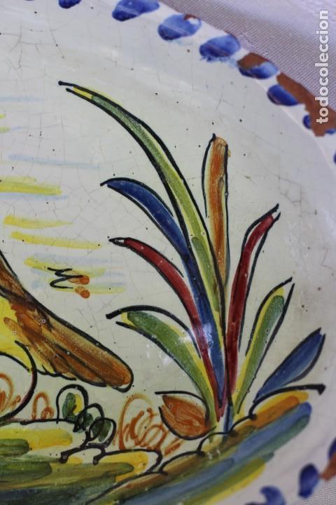 Antigüedades: RARA FUENTE BANDEJA DE CERÁMICA CON PERDIZ TALAVERA DE LA REINA? - Foto 5 - 162469670