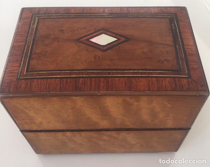 Antigüedades: ANTIGUO PERFUMERO NAPOLEÓN III SIGLO XIX EN PALO ROSA - Foto 10 - 162478077