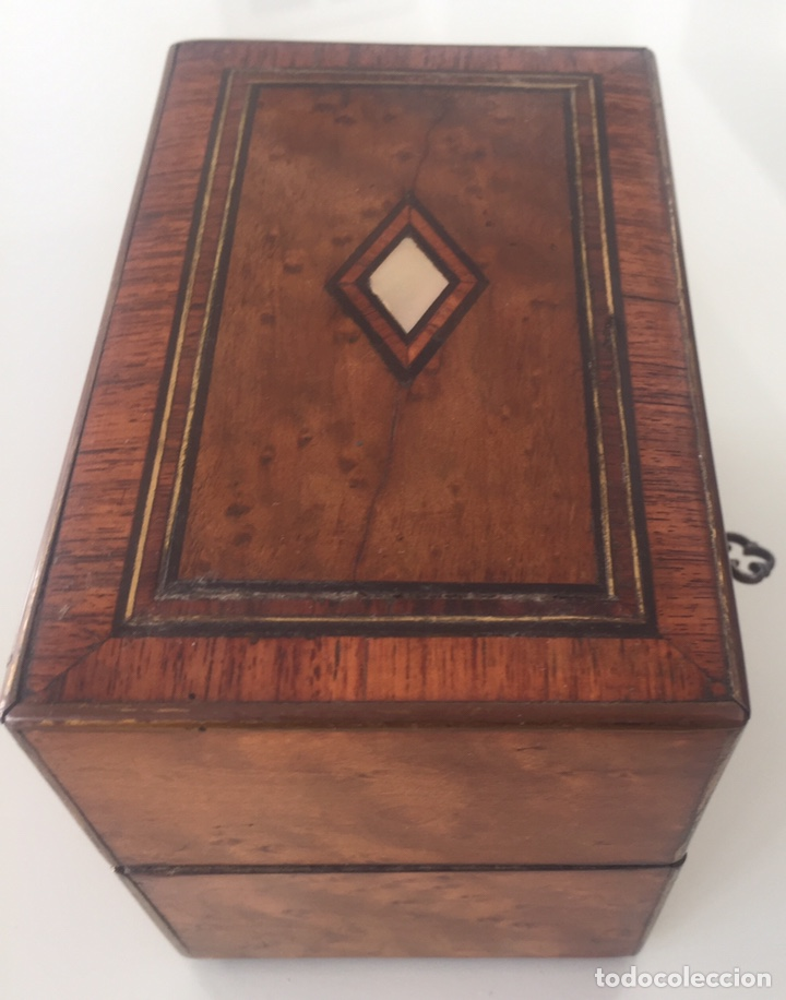 Antigüedades: ANTIGUO PERFUMERO NAPOLEÓN III SIGLO XIX EN PALO ROSA - Foto 11 - 162478077
