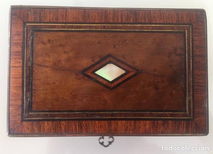 Antigüedades: ANTIGUO PERFUMERO NAPOLEÓN III SIGLO XIX EN PALO ROSA - Foto 13 - 162478077