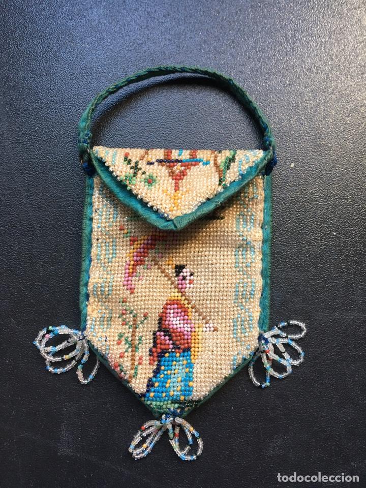 Antigüedades: Monedero cuentas de cristal ppios XX - Foto 3 - 162479177