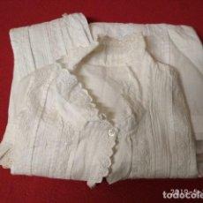 Antigüedades: ANTIGUA CAMISA DE ALGODON CON ENCAJES. Lote 162507730