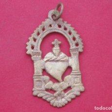 Antigüedades: MEDALLA SIGLO XVIII - XIX SAGRADO CORAZÓN DE JESÚS.. Lote 162514022