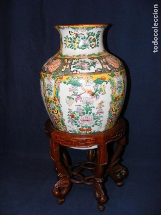 Antigüedades: PAREJA DE JARRONES CHINOS PORCELANA - Foto 2 - 162538370