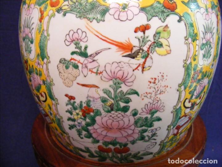 Antigüedades: PAREJA DE JARRONES CHINOS PORCELANA - Foto 8 - 162538370