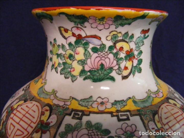 Antigüedades: PAREJA DE JARRONES CHINOS PORCELANA - Foto 9 - 162538370