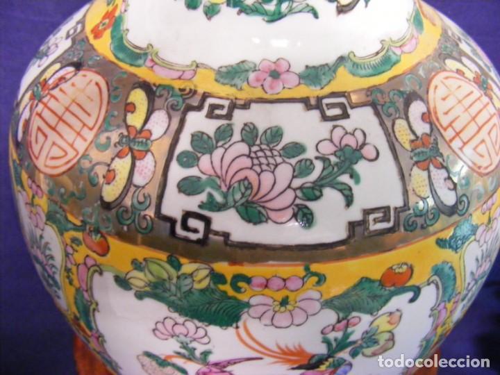 Antigüedades: PAREJA DE JARRONES CHINOS PORCELANA - Foto 10 - 162538370