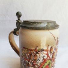 Antigüedades: JARRA CERVEZA ALEMANA CERAMICA ORIGINAL. GERZ.. Lote 162544588