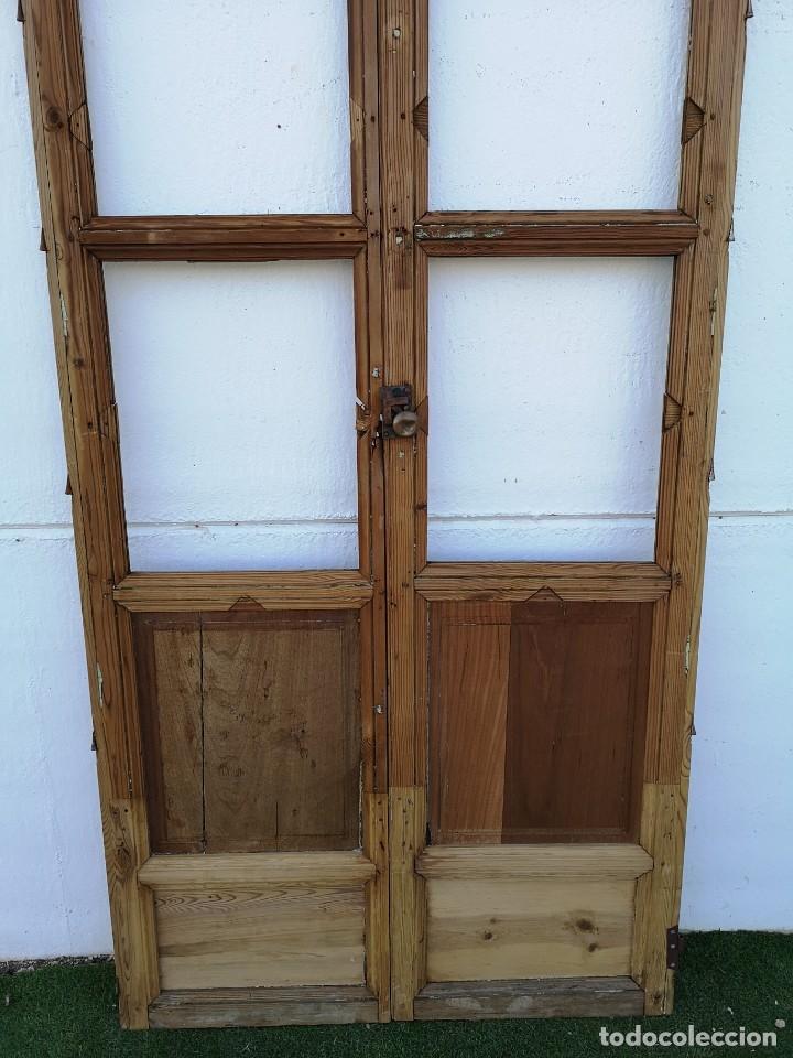 Antigüedades: Puerta cristalera antigua - Foto 3 - 162553878
