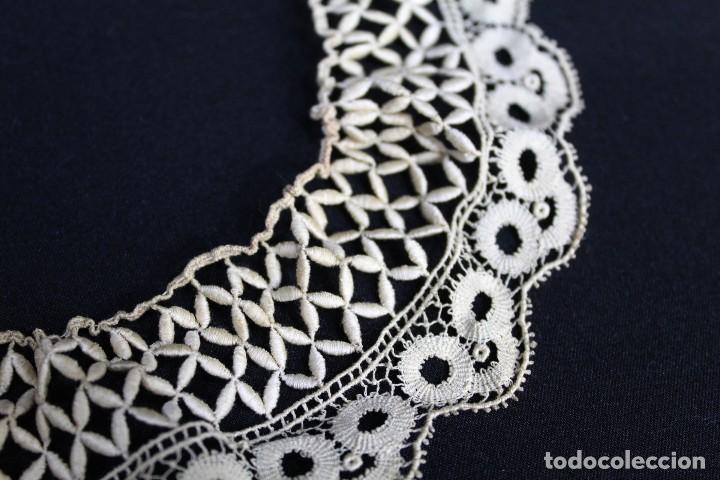 Antigüedades: 285 Cuello elaborado a mano en hilos de seda S XIX - Foto 4 - 162559294
