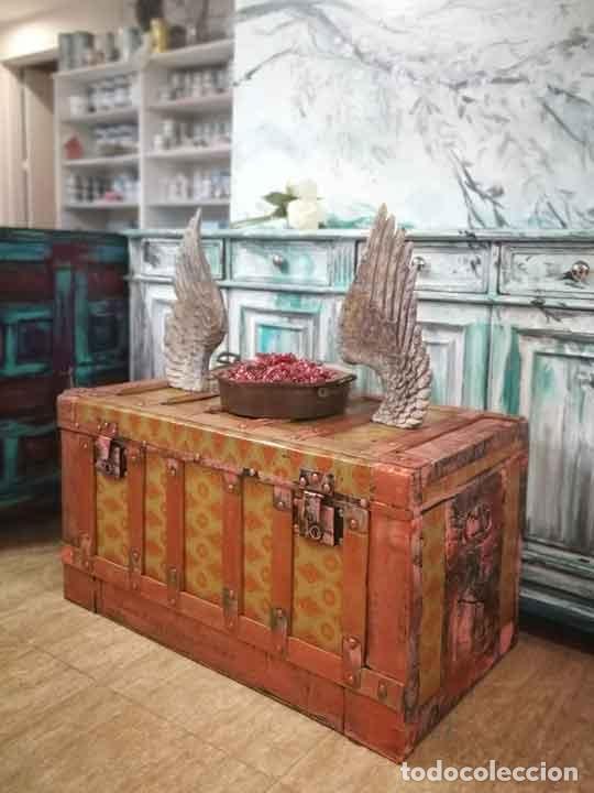 BAÚL ANTIGUO DE MADERA Y METAL (Antigüedades - Muebles Antiguos - Baúles Antiguos)