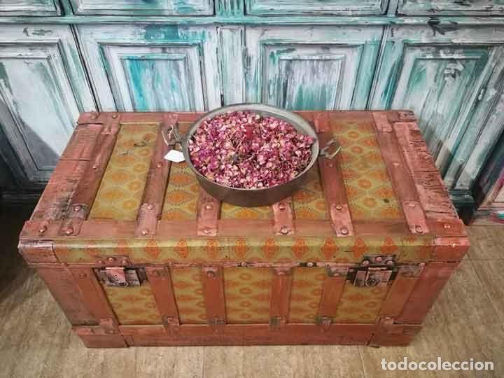 Antigüedades: Baúl antiguo de madera y metal - Foto 3 - 162566366