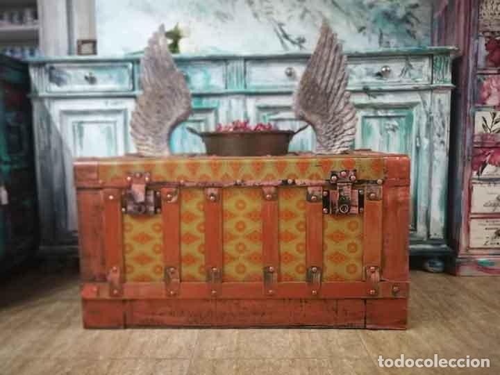 Antigüedades: Baúl antiguo de madera y metal - Foto 5 - 162566366