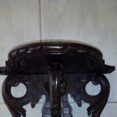 Antigüedades: MENSULA DE MADERA TALLADA. Lote 162570044