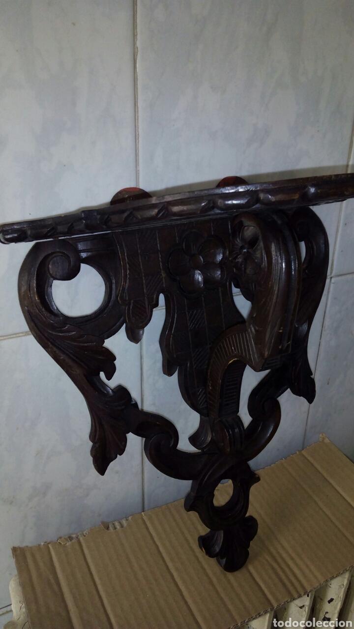 Antigüedades: Mensula de Madera Tallada - Foto 3 - 162570044