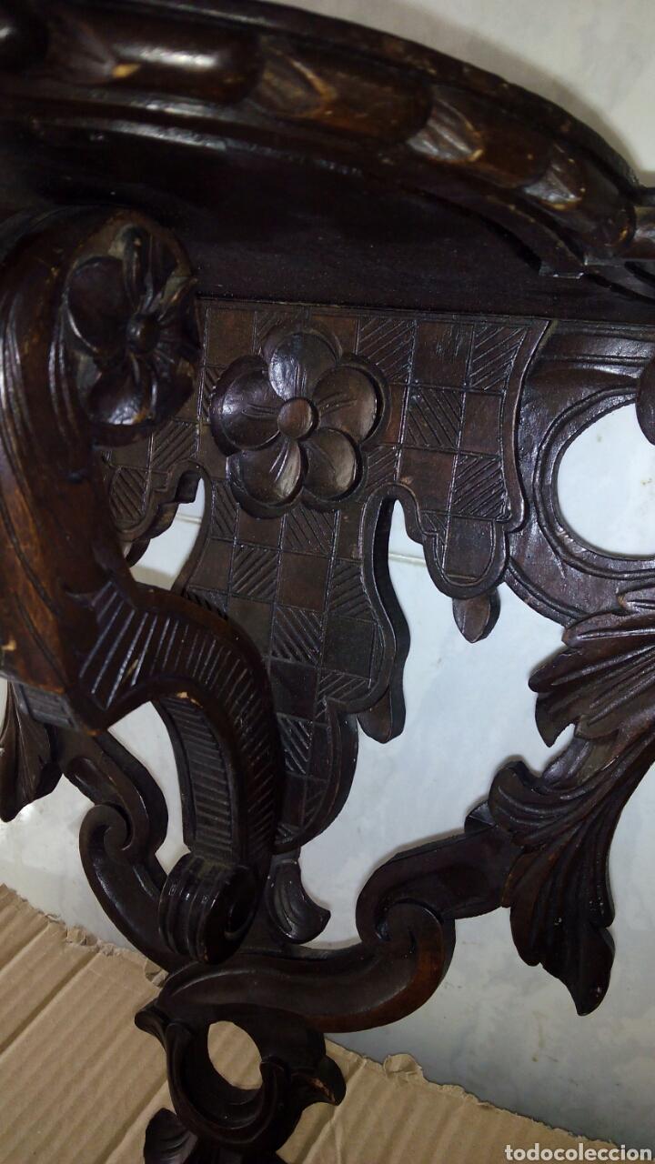 Antigüedades: Mensula de Madera Tallada - Foto 5 - 162570044