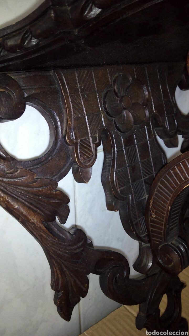 Antigüedades: Mensula de Madera Tallada - Foto 6 - 162570044