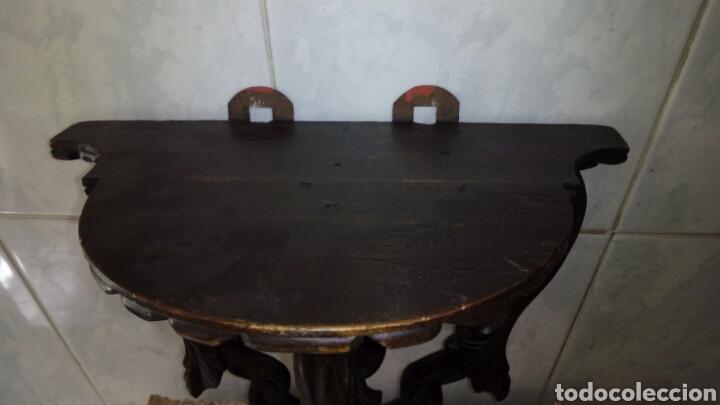Antigüedades: Mensula de Madera Tallada - Foto 8 - 162570044