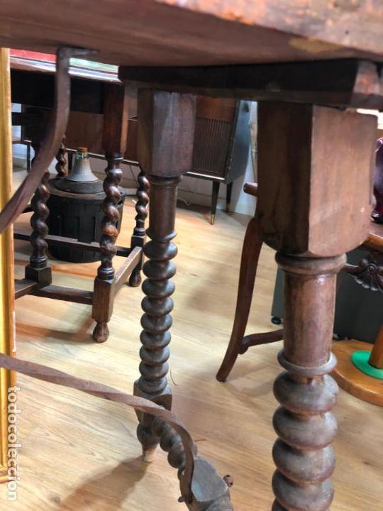 Antigüedades: MUY ANTIGUA MESA DE SAN ANTONIO CON MEDIDAS 44X80X75CM DE ALTO - - Foto 6 - 162575294