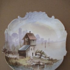 Antigüedades: PLATO ANTIGUO EN PORCELANA DE LIMOGES - FRANCE.. Lote 162581362