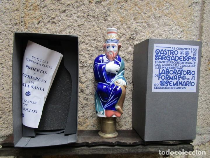 BOTELLA AGUARDIENTE PROFETA PORTICO DE LA GLORIA ' ISAIAS ' NUMERADA 1291/1993, INC CAJA + INFO (Antigüedades - Porcelanas y Cerámicas - Sargadelos)