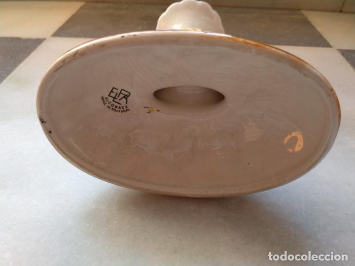 Antigüedades: Antiguo candelabro de porcelana pintado a mano Elpa Alcobaca Portugal - Foto 14 - 162627490