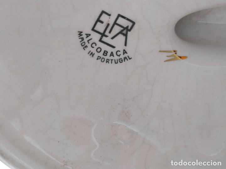 Antigüedades: Antiguo candelabro de porcelana pintado a mano Elpa Alcobaca Portugal - Foto 15 - 162627490