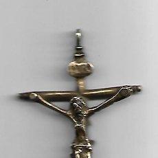 Antigüedades: CRUZ EN BRONCE SIGLO XVIII. Lote 162631566