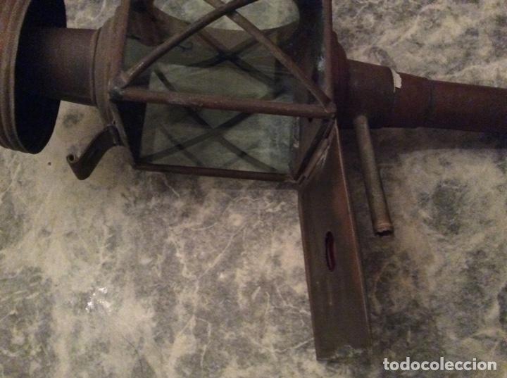 Antigüedades: Farol de carro o carruaje - Foto 5 - 162637966