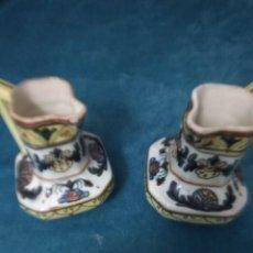 Antigüedades: BONITA PAREJA DE JARRONES ANTIGUAS . Lote 162649994