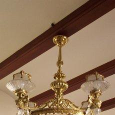 Antigüedades: LAMPARA TECHO ANTIGUA SALÓN COMEDOR. Lote 162670134