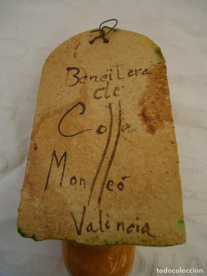 Antigüedades: Antigua benditera de sant Vicent ferrer del artista Collo Monlleó - Foto 3 - 162675266