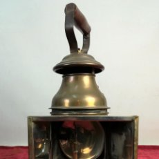 Antigüedades: FAROL CARBURERO FERROVIARIO. RENFE. SIGLO XIX. ESPAÑA. Lote 162676302