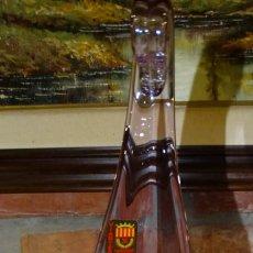 Antigüedades: JARRÓN DE MURANO CRISTAL SOPLADO BASE DE BAÑO DE PLATA . Lote 162683414