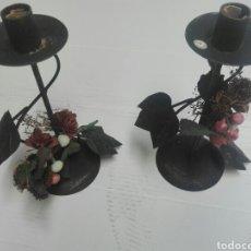 Antigüedades: PRECIOSOS CANDELABROS DE FORJA. Lote 162692592