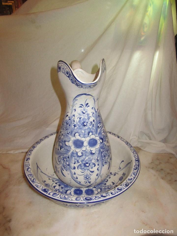 PALANGANA Y JARRA DE PORCELANA, PORTUGAL (Antigüedades - Porcelanas y Cerámicas - Otras)