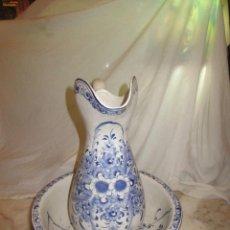 Antigüedades: PALANGANA Y JARRA DE PORCELANA, PORTUGAL. Lote 162698946