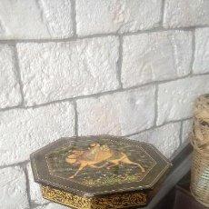 Antigüedades: VELADOR LACADO HINDU. Lote 162699466
