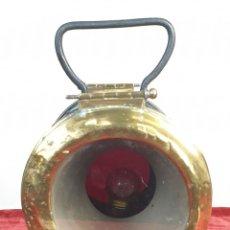 Antigüedades: FAROL FERROVIARIO DE VAGÓN DE COLA. LUIS CASAJUANA. BILBAO. RENFE. SIGLO XX. . Lote 162702978
