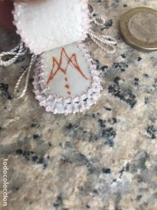 Antigüedades: Escapulario, virgen - Foto 3 - 162726378