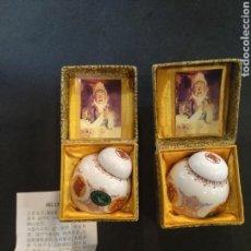 Antigüedades: CONJUNTO TIBOR, PEQUEÑOS JARRONES DE CERÁMICA CHINA.. Lote 162763896