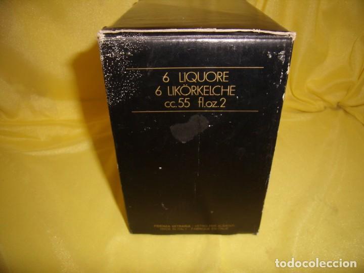 Antigüedades: Copas cristal licor filo oro 6 unid.Noblesse,Italianas de I Vetri di Fedenza,años 70,Nuevas sin usar - Foto 9 - 162775870